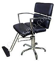 Парикмахерское кресло со спинкой (Черное)