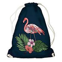 Рюкзак мешок 33х45см фламинго