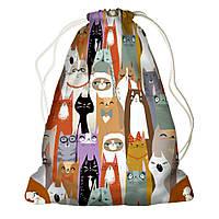 Рюкзак мешок 33х45см Коты