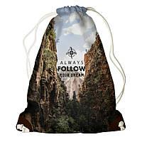 Рюкзак мешок 33х45см Always follow your dream