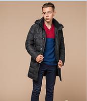 Куртка зимняя молодежная Braggart Youth черный камуфляж топ реплика