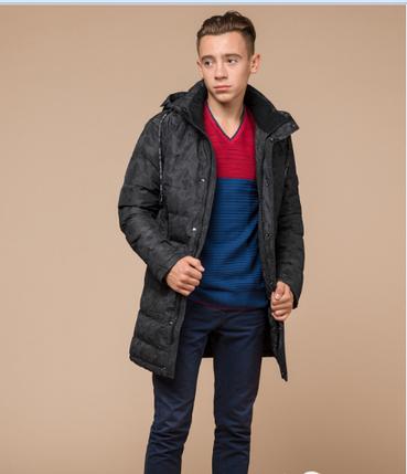 Куртка зимняя молодежная Braggart Youth черный камуфляж топ реплика, фото 2