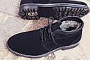 Зимние ботинки дезерты мужские черные замшевые размер 40, 41, 42, 43, 44, 45, фото 8