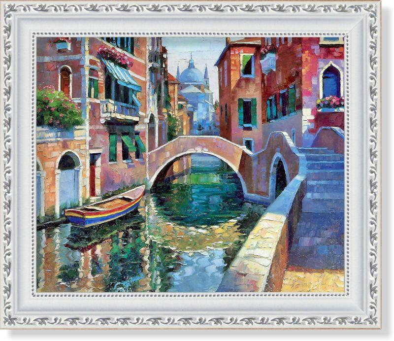Репродукция  современной картины  Говарда Беренса (США) «Мост Белладжио» 30 х 25 см