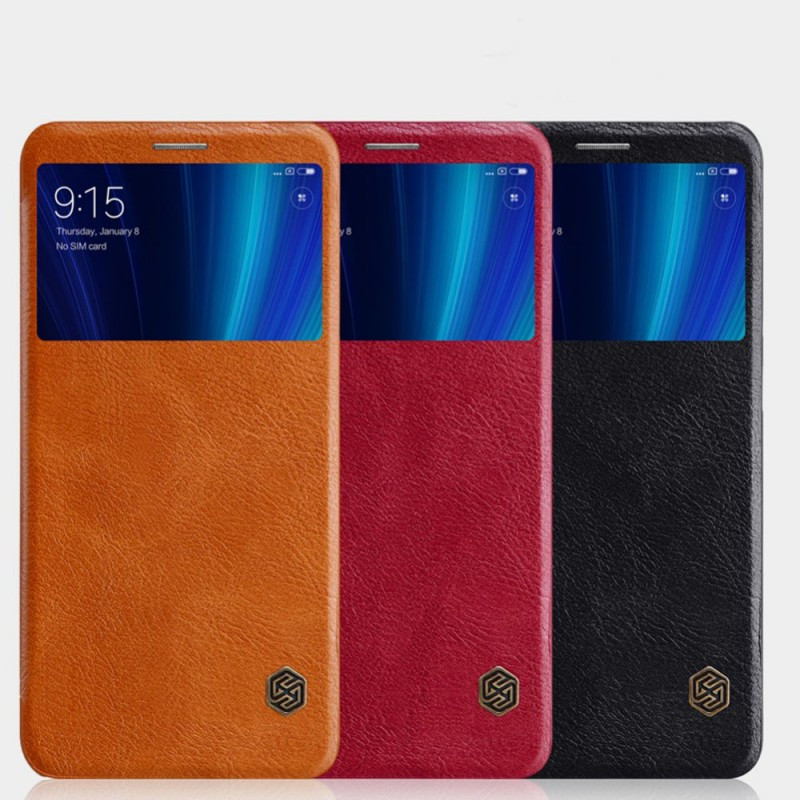 Кожаный чехол (книжка) Nillkin Qin Series для Xiaomi Mi 6X / Mi A2