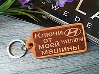Брелок из натуральной кожи Ключи от моей машины Хюндай