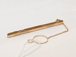 Золотий затиск для краватки. Артикул 200018