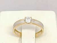 Золотое кольцо с фианитом. Артикул 141071 16,5, фото 1
