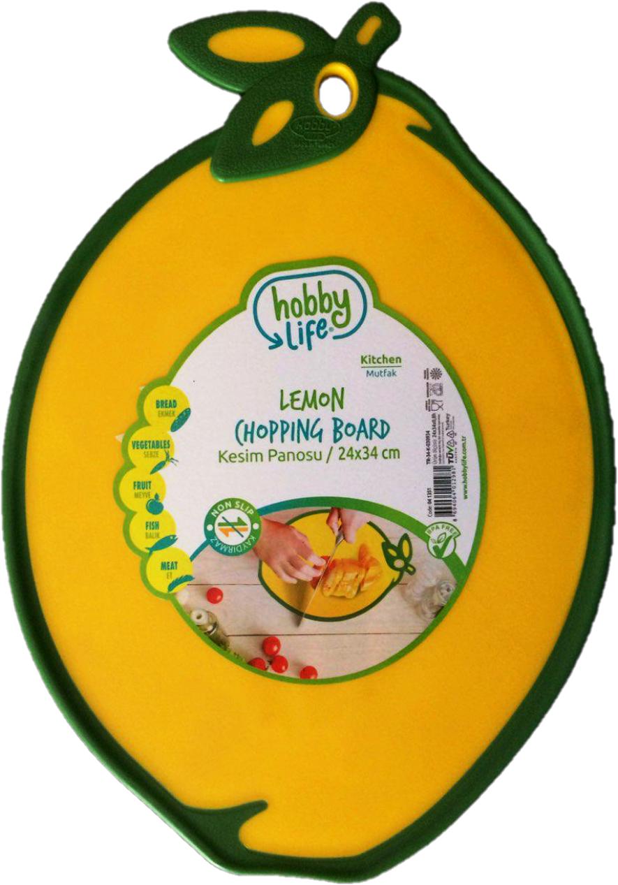 "Доска разделочная ""Лимон"" жёлтая"