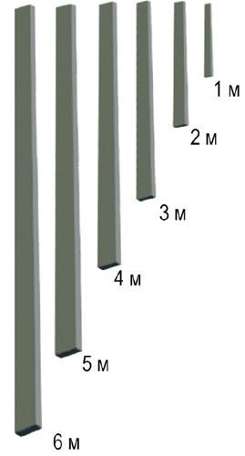 Правило для гладилки скрібкової (+рукоятки в комплекті), від 1 м до 6,0 м
