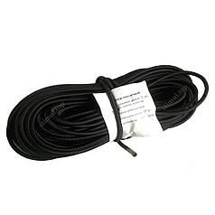 Резиновый шнур в оплетке 6 мм х 50 м / Эластичный шнур-резинка в оболочке  / Багажный жгут / Эспандер чёрный
