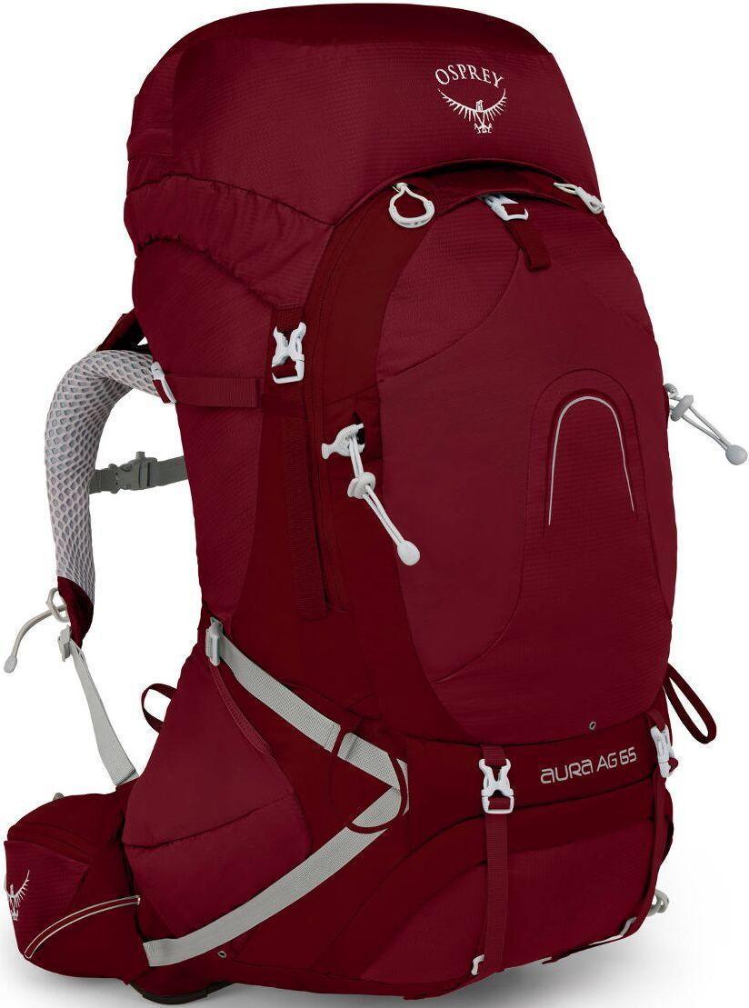 Рюкзак женский туристический Osprey Aura AG 65 Gamma Red WS, 65 л, красный
