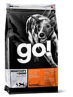 Корм GO! SENSITIVITY + SHINE Для Щенков и Собак со свежим Лососем и овсянкой 2,72кг