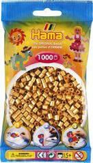 Намистини для термомозаики під золото 1000 шт 5мм Hama 207-61
