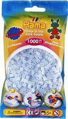Світяться намистини для термомозаики блакитні намистини 5 мм 1000шт Hama 207-57