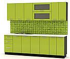 Навісна шафа в кухню з ДСП i МДФ 30В Гамма глянець Мебель Сервіс, фото 4