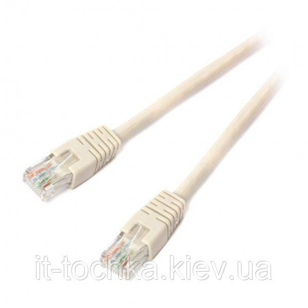 Литой патч корд cablexpert pp6u-0.5m серый utp категория 6 50u штекер с защелкой 50 см