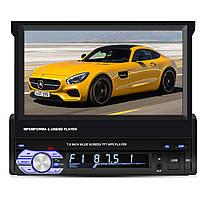 ☇Автомагнитола 1 DIN 7'' Lesko 9601B с выдвижным экраном MP3 FM USB блютуз просмотр видео 55 Вт