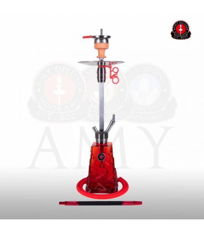 Кальян Amy Deluxe SS 18 Crystalica Красный