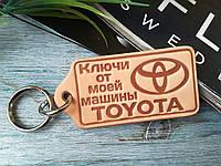 Брелок из натуральной кожи Ключи от моей машины Тойота