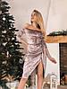 Платье стильное нарядное из бархата с открытыми плечами разные цвета Smslip2798