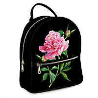 Городской рюкзак пион 30х28х7см черный