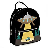 Городской рюкзак НЛО 30х28х7см черный