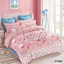 17162 Комплект ранфорс дитячий рожевий