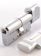 Abloy Protec2 HARD 63 мм 31x31 ключ/тумблер матовый хром