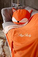 """Детский флисовый комплект плед и подушка """"Лиса"""" L плед (200*150) подушка (50*70)"""