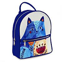Городской рюкзак Кот 30х28х7см синий