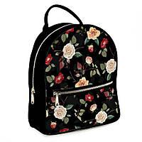 Городской рюкзак  Розы 30х28х7см черный