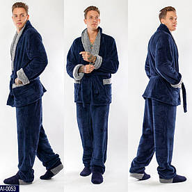 Домашний уютный, теплый, мужской костюм Размер: 50-52, 52-54 Ткань -турецкая пушистая махра