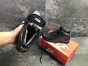 Мужские кроссовки прессованная кожа темно синие, фото 3