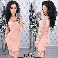 Платье гипюровое  в расцветках 34998, фото 1