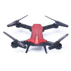 Радиоуправляемый квадрокоптер, складной дрон Lishitoys L6060 Red, с подсветкой