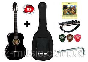 Гитара классическая 3/4 Almira CG-1702 BK (Чехол, Каподастр, Медиатор, Ключ)
