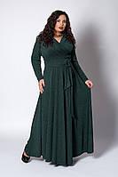 Платье мод №581-1, размер 52,54,56 бутылочное