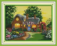 Сказочный дом F324 Набор для вышивки крестом с печатью на ткани 14ст