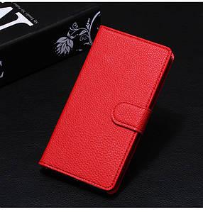 Чехол для Samsung Galaxy J2 2015 / J200 книжка кожа PU красный