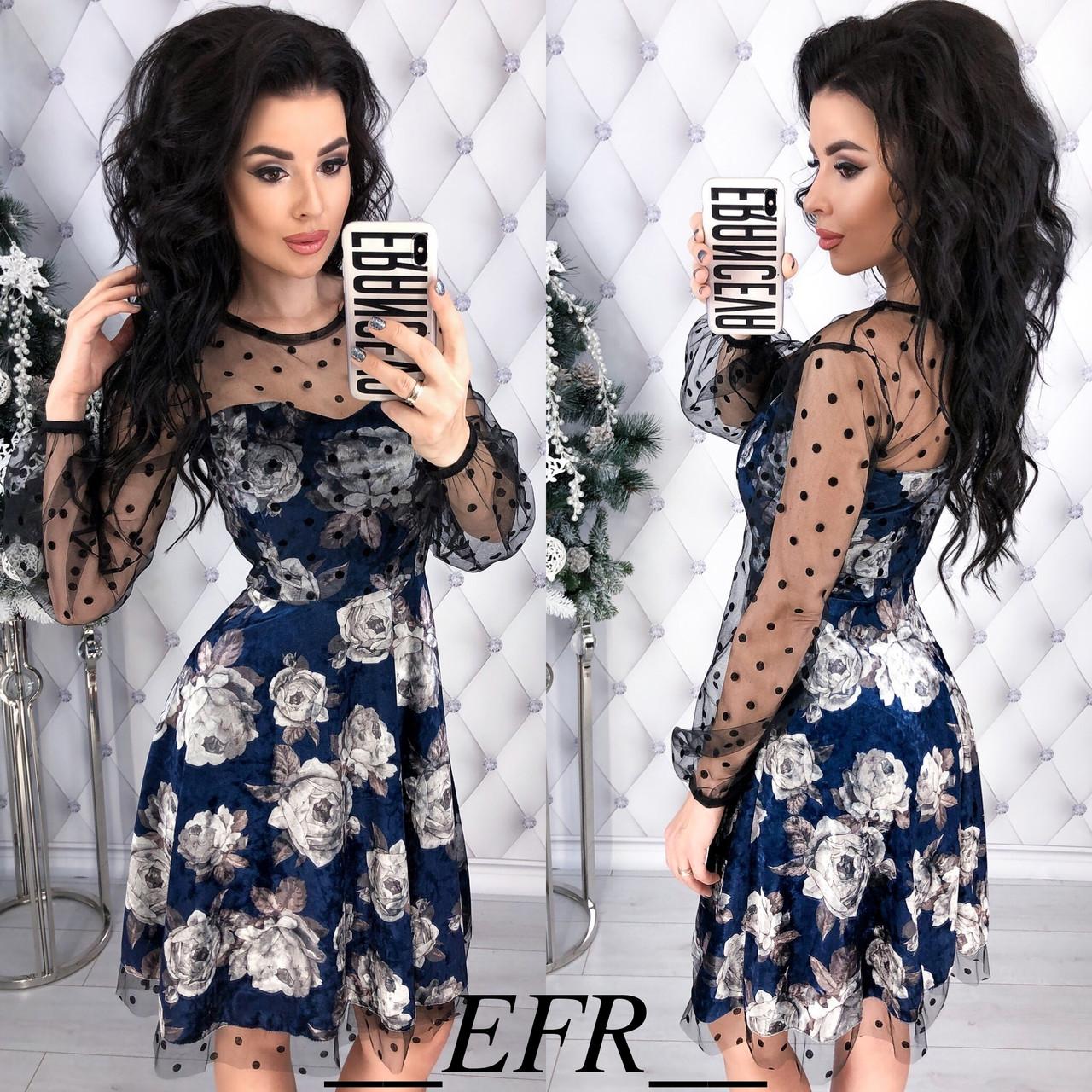 Платье с розами в расцветках 35000  Интернет-магазин модной женской одежды  оптом и в розницу . Самые низкие цены в Украине. платья женские от