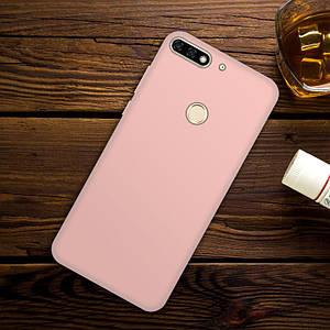 """Чехол Бампер Style для Honor 7C Pro 5.99"""" силиконовый розовый"""