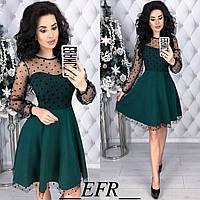 Платье с сеткой в расцветках 35003, фото 1