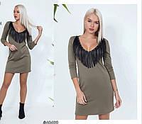 Платье с бахромой в расцветках 26229, фото 1