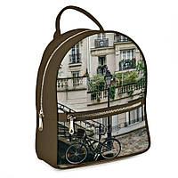 Городской рюкзак Италия 30х28х7см темный беж