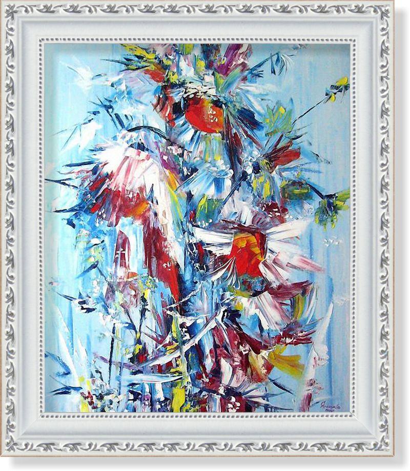 Репродукція сучасної картини «Біле, червоне, синє»