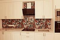 Фартук кухонный из стекла с фотопечатью, стеновая панель на кухню, скинали, ФК4