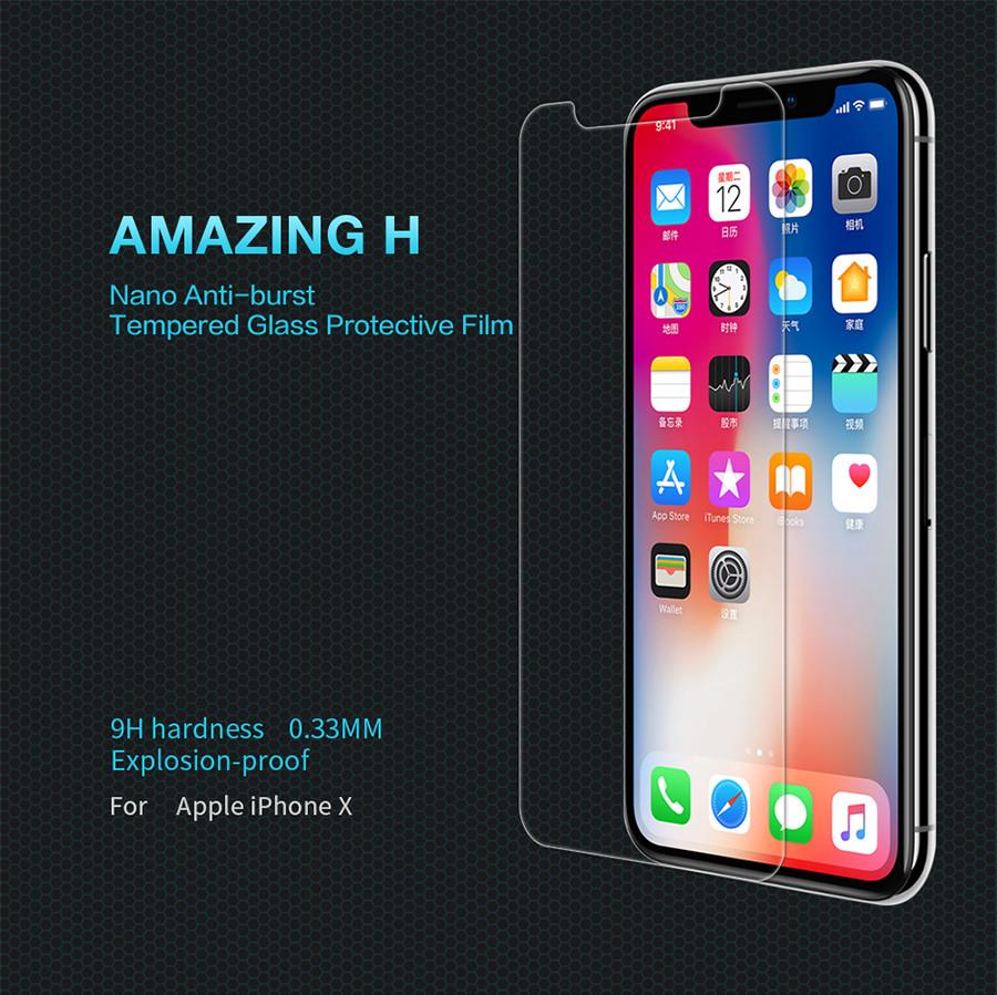 "Защитное стекло Nillkin Anti-Explosion Glass (H) для Apple iPhone X (5.8"") / XS (5.8"")"