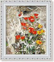 Репродукция  современной картины  «Белое, красное, жёлтое»