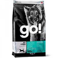 Корм Go! (Гоу) LID SALMON Dog Recipe - корм для щенков и собак с чувствительным пищеварением (лосось)2,72кг